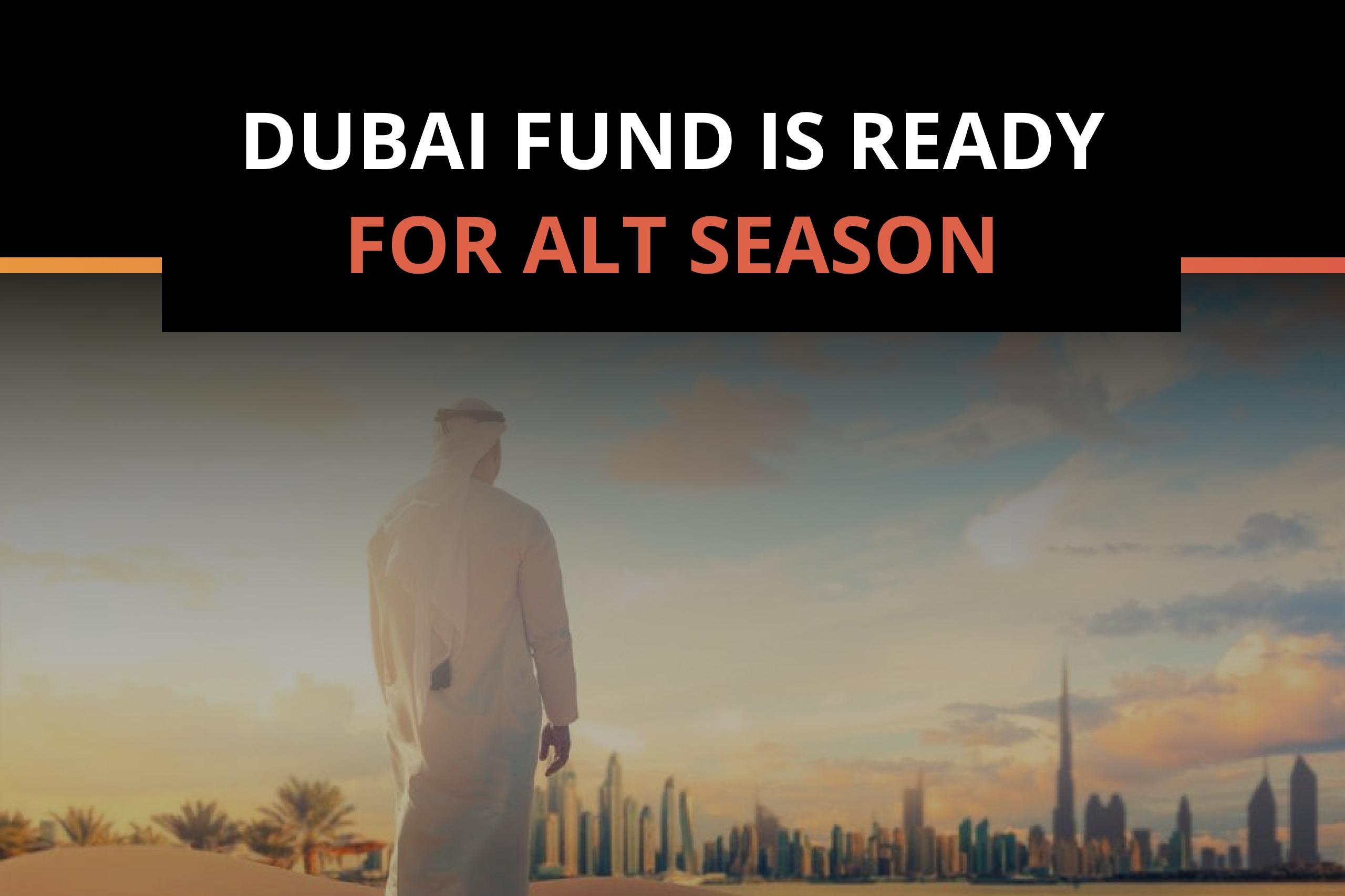 Dubai fund is adding altcoins to its portfolio